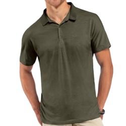 Icebreaker Tech Polo Shirt - UPF 30+, Merino Wool, Short Sleeve (For Men) in Cargo