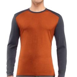 Icebreaker Tech Shirt - UPF 30+, Merino Wool, Midweight, Long Sleeve (For Men) in Copper/Monsoon