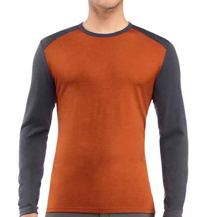 Icebreaker Tech Shirt - UPF 30+, Merino Wool, Midweight, Long Sleeve (For Men) in Copper/Monsoon - Closeouts