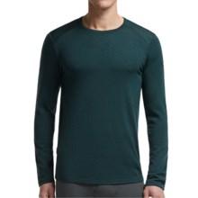Icebreaker Tech Shirt - UPF 30+, Merino Wool, Midweight, Long Sleeve (For Men) in Nori Heather - Closeouts