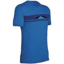 Icebreaker Tech T Lite Alps T-Shirt - Merino Wool, Short Sleeve (For Men) in Pelorus - Closeouts