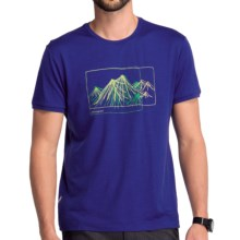 Icebreaker Tech T Lite Aoraki T-Shirt - Merino Wool, Short Sleeve (For Men) in Cobalt - Closeouts