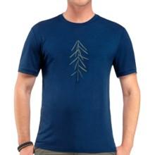 Icebreaker Tech T Lite Lancewood T-Shirt - Merino Wool, Short Sleeve (For Men) in Largo - Closeouts