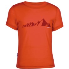 Icebreaker Tech T Lite Ridge T-Shirt - UPF 39+, Merino Wool, Short Sleeve (For Kids) in Ridge Cajun - Closeouts