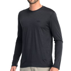 Icebreaker Tech T Lite T-Shirt - UPF 30+, Merino Wool, Long Sleeve (For Men) in Stealth