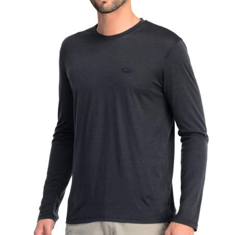Icebreaker Tech T Lite T-Shirt - UPF 30+, Merino Wool, Long Sleeve (For Men) in Stealth