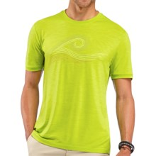 Icebreaker Tech T Lite Wave T-Shirt - UPF 30, Merino Wool, Short Sleeve (For Men) in Cactus - Closeouts