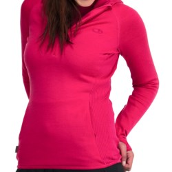 Icebreaker Tempest Pullover Hoodie Sweatshirt - Merino Wool, Zip Neck (For Women) in Bone