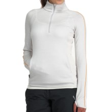 Icebreaker Tempest Zip Neck Sweater - Merino Wool, UPF 50+, Long Sleeve (For Women) in Bone - Closeouts