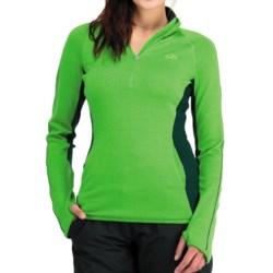 Icebreaker Tempest Zip Neck Sweater - Merino Wool, UPF 50+, Long Sleeve (For Women) in Bone