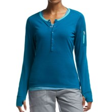 Icebreaker Terra Henley Shirt - UPF 20+, Merino Wool, Long Sleeve (For Women) in Isle/Aquamarine - Closeouts