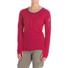 Icebreaker Terra Henley Shirt - UPF 20+, Merino Wool, Long Sleeve (For Women) in Raspberry/Emperor - Closeouts