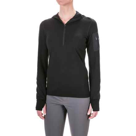 Icebreaker Terra Hoodie - Merino Wool, Zip Neck (For Women) in Black/Black/Black - Closeouts