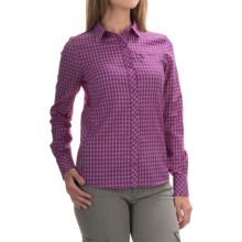 Icebreaker Terra Plaid Shirt - Merino Wool, UPF 20+, Long Sleeve (For Women) in Emperor/Vivid - Closeouts