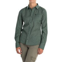 Icebreaker Terra Plaid Shirt - Merino Wool, UPF 20+, Long Sleeve (For Women) in Panther/Panther - Closeouts