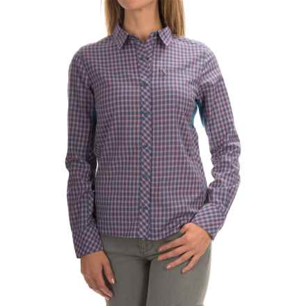 Icebreaker Terra Plaid Shirt - Merino Wool, UPF 20+, Long Sleeve (For Women) in Shore/Grapefruit - Closeouts