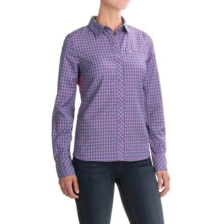 Icebreaker Terra Plaid Shirt - Merino Wool, UPF 20+, Long Sleeve (For Women) in Sweetpea/Alpine - Closeouts