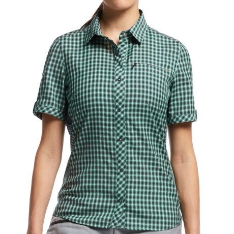Icebreaker Terra Plaid Shirt UPF 30+, Merino Wool, Short Sleeve (For Women)
