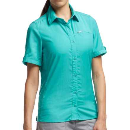 Icebreaker Terra Shirt - UPF 30+, Merino Wool, Short Sleeve (For Women) in Aquamarine/Aquamarine - Closeouts