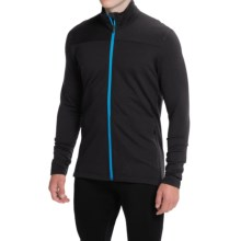 Icebreaker Transit Running Jacket - UPF 20+ (For Men) in Black/Aegean - Closeouts