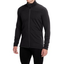 Icebreaker Transit Running Jacket - UPF 20+ (For Men) in Black/Black - Closeouts