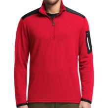 Icebreaker Tundra Sweater - Merino Wool, UPF 20+, Zip Neck (For Men) in Rocket/Black/White - Closeouts