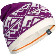 Icebreaker Vega Beanie Hat - UPF 20+, Merino Wool (For Men and Women) in Vivid/Snow/Ib Orange - Closeouts