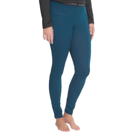 Icebreaker Vertex Base Layer Bottoms Merino Wool, Midweight, UPF 30+ (For Women)