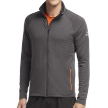 Icebreaker Victory Full-Zip Shirt - UPF 40+, Merino Wool, Long Sleeve (For Men) in Monsoon/Spark - Closeouts