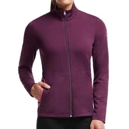 Icebreaker Victory Zip Shirt - UPF 40+, Merino Wool, Long Sleeve (For Women) in Maroon/Maroon/Shocking - Closeouts