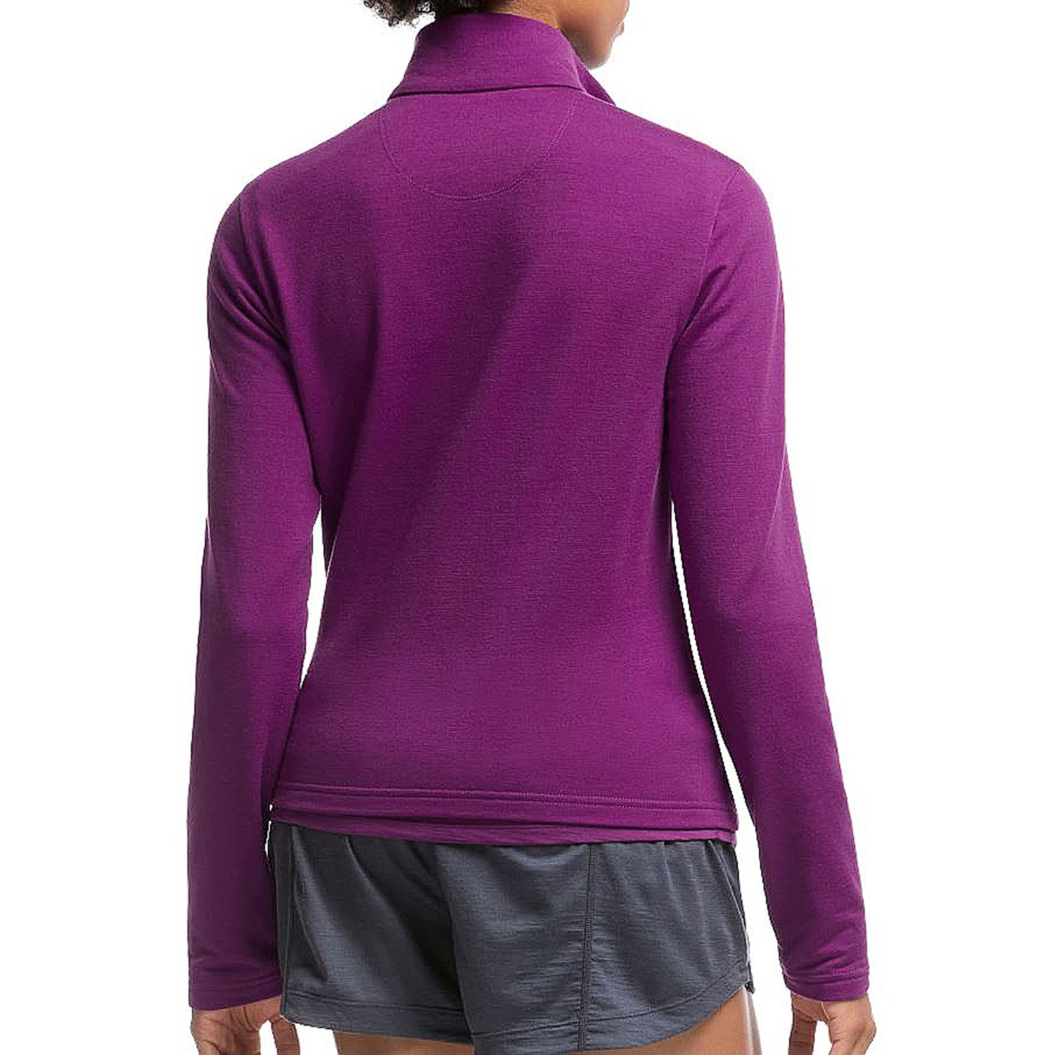Icebreaker victory zip shirt for women save 60 for Merino wool shirt womens