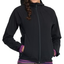 Icebreaker Viento Hood Soft Shell Jacket - Merino Wool Lining (For Women) in Black - Closeouts