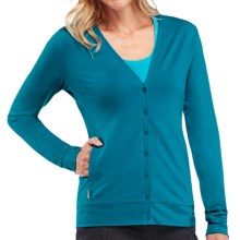 Icebreaker Villa 200 Cardigan Sweater - UPF 30+, Merino Wool (For Women) in Cruise - Closeouts