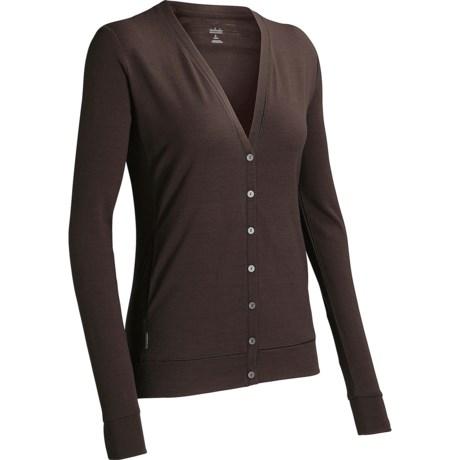Icebreaker Villa 200 Cardigan Sweater - UPF 30+, Merino Wool (For Women) in Cruise