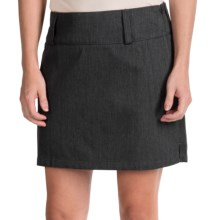 Icebreaker Vista 200 Journey Skirt - Merino Wool (For Women) in Jet Heather/Black - Closeouts