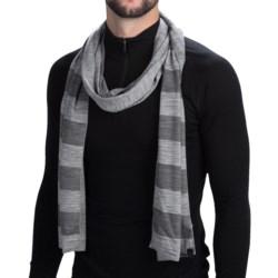 Icebreaker Vista Scarf - Merino Wool (For Men and Women) in Metro Heather/Monsoon