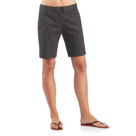 Icebreaker Vista Shorts - UPF 50+, Merino Wool-Cotton (For Women) in Jet Heather/Black - Closeouts