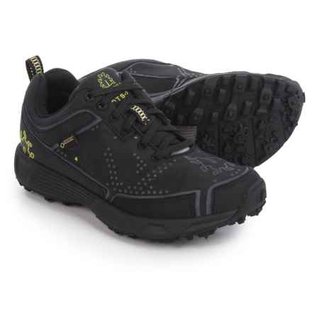 Icebug DTS2 BUGrip® Gore-Tex® Trail Running Shoes - Waterproof, Studded (For Women) in Black/Charcoal - Closeouts