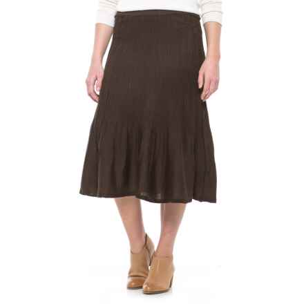 Icelandic Design Adelaide Midi Skirt (For Women) in Brown - Closeouts