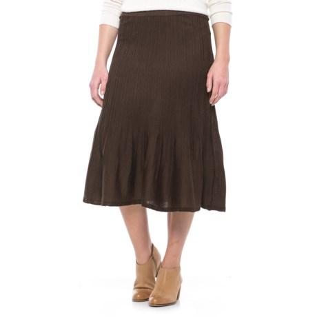 Icelandic Design Adelaide Midi Skirt (For Women) in Brown