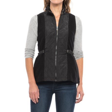 Icelandic Design Boiled Wool Lotte Vest - Zip Front (For Women) in Black