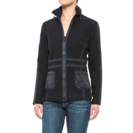 Icelandic Design Cate Jacket - Boiled Wool, Equestrian Trim (For Women) in Black - Closeouts