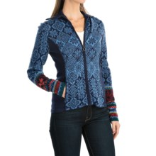 Icelandic Design Courchevel Cardigan Sweater - Full Zip (For Women) in Blue - Closeouts