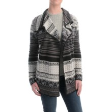 Icelandic Design Kiera Cardigan Sweater - Wool Blend (For Women) in Black - Closeouts