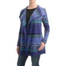 Icelandic Design Kiera Cardigan Sweater - Wool Blend (For Women) in Blue - Closeouts