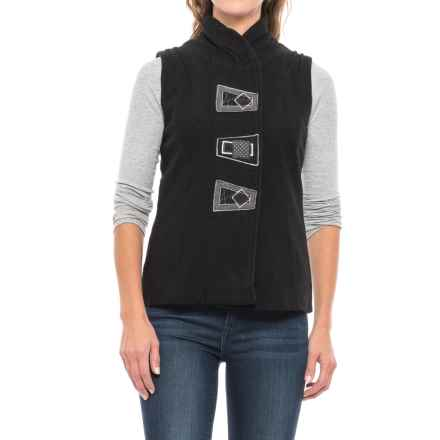 Icelandic Design Lydia Vest - Boiled Wool (For Women) in Black - Closeouts