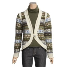 Icelandic Design Madeline Cardigan Sweater - Wool (For Women) in Natural - Closeouts