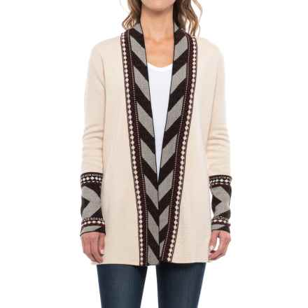 Icelandic Design Maya Cardigan Sweater - Wool Blend (For Women) in Neutrals - Closeouts