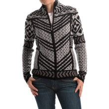 Icelandic Design Remy Cardigan Sweater - Wool, Full Zip (For Women) in Black - Closeouts