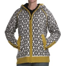 Icewear Helga Hooded Sweater Jacket - New Wool (For Women) in Limeade - Closeouts